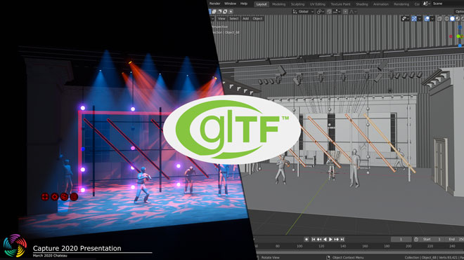 glTF export with full material support